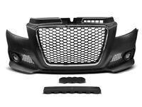 RS Front bumper with fog lights ABS plastic BODYKIT tuning set with chrome grill