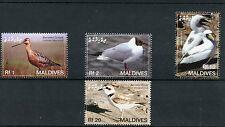 Maldivas 2006 estampillada sin montar o nunca montada Aves 4v Set zancudas gaviotas Aguja chorlitejo patinegro Alcatraz sellos