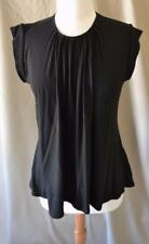 Marni Black Cap Sleeve Knit Top Size 40 Medium
