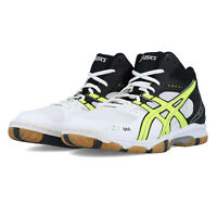 Asics Mens Gel-Task MT Volleyball Shoes Black White Yellow Sports Badminton