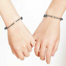2Pcs/Set Couple Bracelet Friendship Rope Braided Distance Magnetic Jewelry Lover