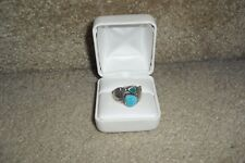 NA HOKU WYLAND GALLERY TURQUOISE WINGS STERLING SIVER RING SZ 7.5 RARE EUC $269