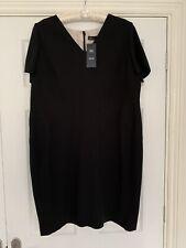 Ladies M&S Marks & Spencer Dress Size 18 Petite Black BNWT RRP £39.50
