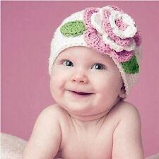 Cute Big Flower Infant Baby Kids Toddler Girl Warm Beanie Knit Hat Cap Hotsales