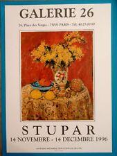 Marko STUPAR Affiche originale Nature morte Vodenica Serbie Montmartre Paris