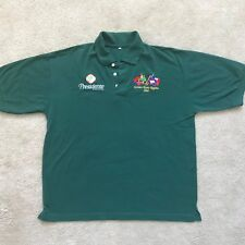 Presidente Cerveza Beer Golden Rock Regatta 2007 Mens Polo Green Sz Xl