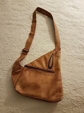 c76fa9397f269 Giudi Leather Crossbody Messenger Bag Light Brown made in Italy