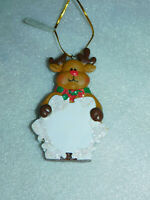 Reindeer Glitter Snowflake Ornament Christmas Tree Personalized Damaged Antler