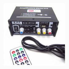 AMPLIFICATORE AUDIO LETTORE MP3 RADIO INGRESSO USB E SD TELECOMANDO AUTO 220 V