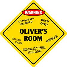 """*Aluminum* Oliver's Room Kids Room Door 12""""x12""""  Metal Novelty Sign"""