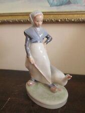 Vintage Royal Copenhagen Denmark Thomsen Porcelain Figurine 528 Goose Girl