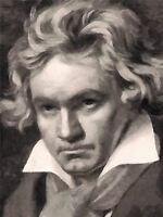 ART PRINT POSTER PAINTING PORTRAIT COMPOSER LUDWIG VAN BEETHOVEN NOFL0076