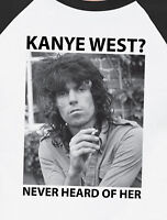 Keith Richards – Kanye West? Never Heard of Her – Ragland Baseball T-Shirt