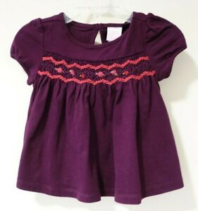 NWT Janie and Jack Equestrian Charm Smocked & Embroidered Top  Size 12-18 Month