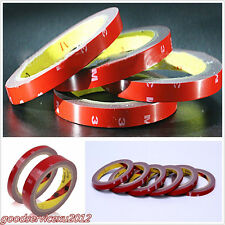 10 Pcs Practical Red 3m*10mm Car Off-Road Acrylic Foam Double Side Tape Adhesive
