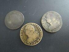 Antique Coins LUDOV XVI 1789 - LOUIS XVI 1782 - LOUIS XVI 1791 - France