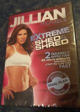 JILLIAN MICHAELS Extreme Shed & Shred Total Body Exercise DVD Workout New !!!