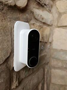 Nest Hello Doorbell Wall Plate   45° degree Angle Mount Kit Left/Right -WHITE!