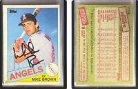 Mike C. Brown Signed 1985 Topps #258 Card California Angels Auto Autograph