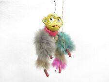 Vtg Monkey String Puppet Real Fur