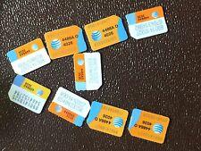 LOT OF 100  AT&T Nano SIM CARDS 4G LTE