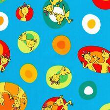 Dr Seuss Fabric - Hop on Pop - Colourful Eggs - Blue - 100% Cotton