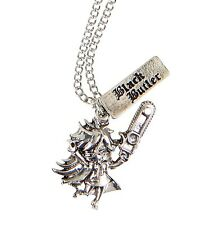 Black Butler SEBASTIAN SILVER TONE CHARM NECKLACE Pendant Officially Licensed