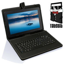 """Micro USB Keyboard PU Leather Case Stand for 10'' 10.1"""" Google Android Tablet"""