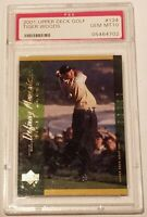 Tiger Woods Rookie PSA 10 GEM MINT CONDITION 2001 Upper Deck Golf #124