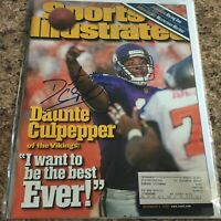 Daunte Culpepper Signed Sports Illustrated Auto Football 12/4/00 Vikings