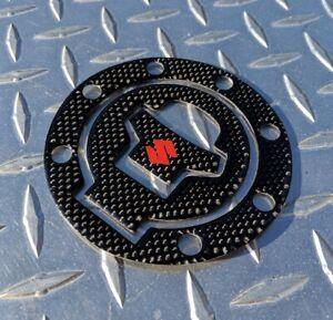 Suzuki REAL Carbon Fibre Fuel Gas Cap Pad SV650 SV1000 GSXR HAYABUSA TL1000R TLS