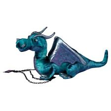 "JADE STUFFED BLUE DRAGON - by Douglas Toys - 15"" - BRAND NEW - #729"