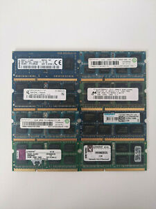 2GB DDR3 PC3-8500S PC3-10600S Assorted SODIMM  Laptop RAM Modules