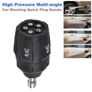 High Pressure Multi-angle five-in-one Car washing Quick Plug Universal Nozzle