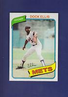 Dock Ellis 1980 TOPPS Baseball #117 (NM+) New York Mets