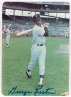 Original Autograph PSA/DNA of George Foster of the SF Giants on a 3.5x5 Photo