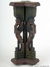 Indien 20. Jh. Holzsäule - A South Indian Carved Wood 'Yalis' Tripod Stand Inde