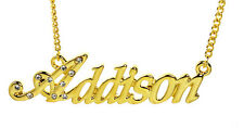 18K Gold Plated Necklace With Name ADDISON - Personalized Jewelry Name Chain