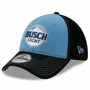 Kevin Harvick New Era Busch Light NEO 39THIRTY Flex Hat - Black/Light Blue