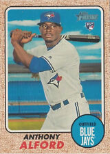Anthony Alford 2017 Topps Heritage High 690 rookie card Blue Jays RC