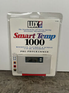 LUX Smart Temp 1000 Electronic Thermostat Pre Programmed Model TX1000 Heat Cool