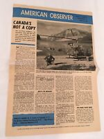 American Observer 1969, Vol. 47, Lot of 5, Peru, Oil Disaster, Middle East