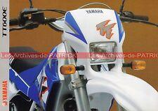 YAMAHA TT 600 E - 1997-1999 : Brochure - Dépliant - Moto                  #0548#
