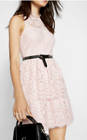 NWT Express Tiered Lace Fit and Flare Dress Sold out SZ 6 Value $88