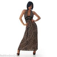 SeXy Damen Maxikleid - Leopard Look - Gr. M Maxi Kleid NEU Fashionbox24h MM1244