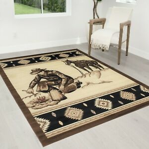 Rug for Lodge 5x7 cabin rugs cowboy western design bohemian area rugs 8x10