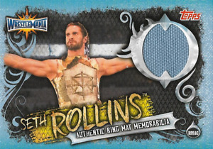 Seth Rollins Topps WWE Slam Attax live Ring Mat Relic Memorabilia RMAC