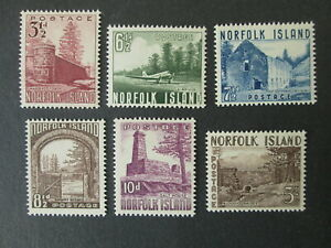 NORFOLK ISLAND 6 stamps MH 1953