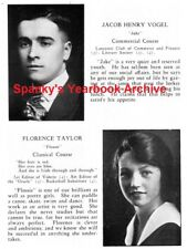 1920 Lancaster PA High School Yearbook~Photos~History~Clubs~Sports~Cartoons~++++