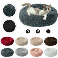 Round Dog Cat Warm Sleeping Bed Soft Plush Pet Puppy Kitten Kennel Nest Cushion